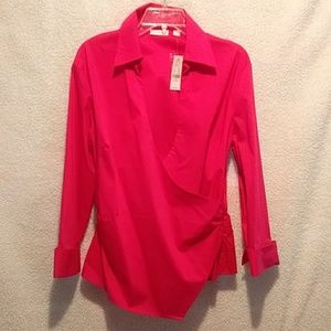 New York & Company faux wrap top